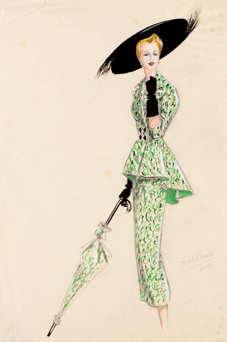 Vintage Fashion Drawings 100