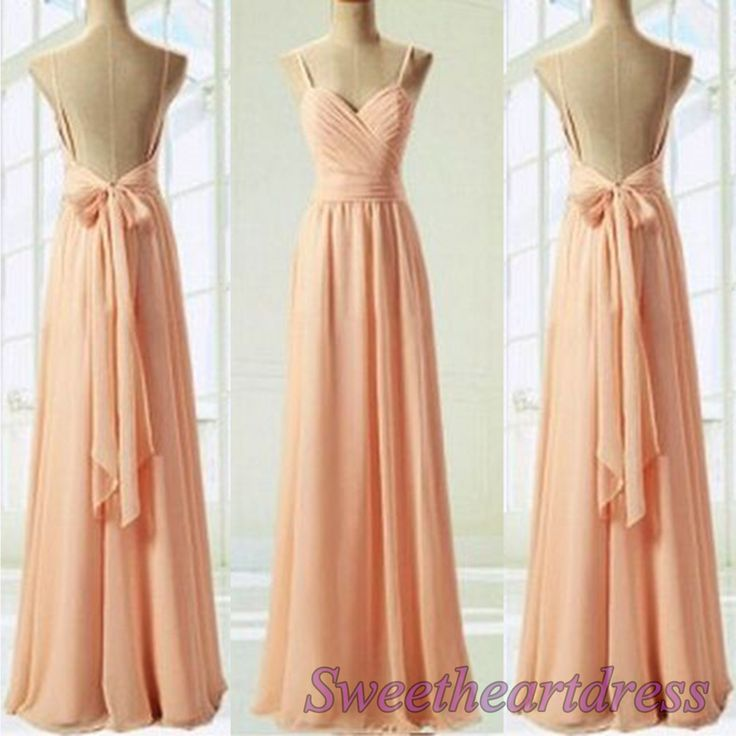 Elegant backless prom dress with straps, prom dresses long  http://sweetheartdress.storenvy.com/products/14640705-elegant-blush-pink-long-customize-backless-bridesmaid-dress