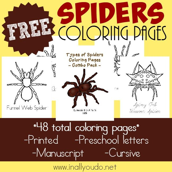 The Multi Taskin' Mom uses affiliate links. These Types of Spider Coloring Pages from In All You Do are perfect for a unit study on Spiders as Halloween approaches. This set includes 12 pages of different spiders labeled and available for tracing. Head over to In All You Do now to download your set! GET …