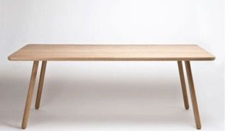 Dining table one - Another country (solid oak / laquered chestnut) 2m x 1m x 740mm h $3600 LUKE