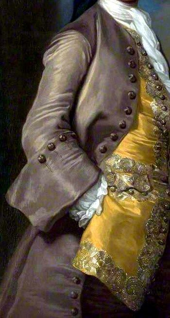 Detail from portrait of Captain Richard Chadwick (d.1748) by George Knapton, 1744.