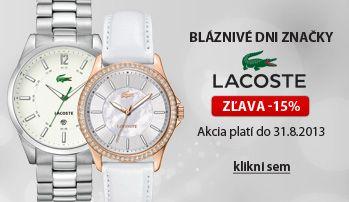 Akcia hodinky Lacoste - 15% do 31.8. http://www.1010.sk/kategoria/hodinky-lacoste/