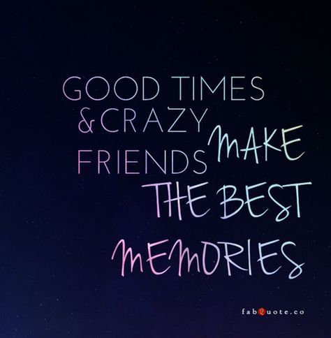 """Crazy friends always have the """"best"""" ideas. 