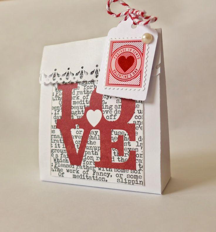 DIY tutoriál... Valentýnská přání a dárková taštička | Pretty Papers - přáníčka, scrapbook, tvoření z papíru...