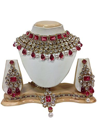 Pink Stone White Pearls Bollywood Inspired Gold Plated Ku... http://www.amazon.in/dp/B06WRNL7PW/ref=cm_sw_r_pi_dp_x_usTNyb0GNRV3P