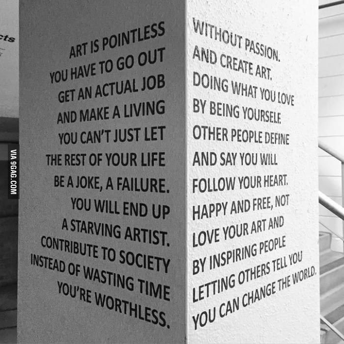 Art is pointless.