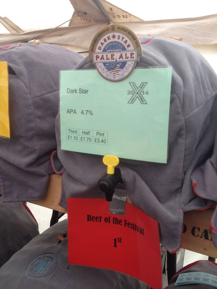 #BOTWH American Pale Ale from Sussex-based Dark Star Brewery is judged Champion Beer of the Festival.