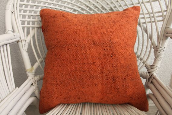 Handmade Pillow 18x18 Kilim Pillow Cover Antique Pillow 18x18
