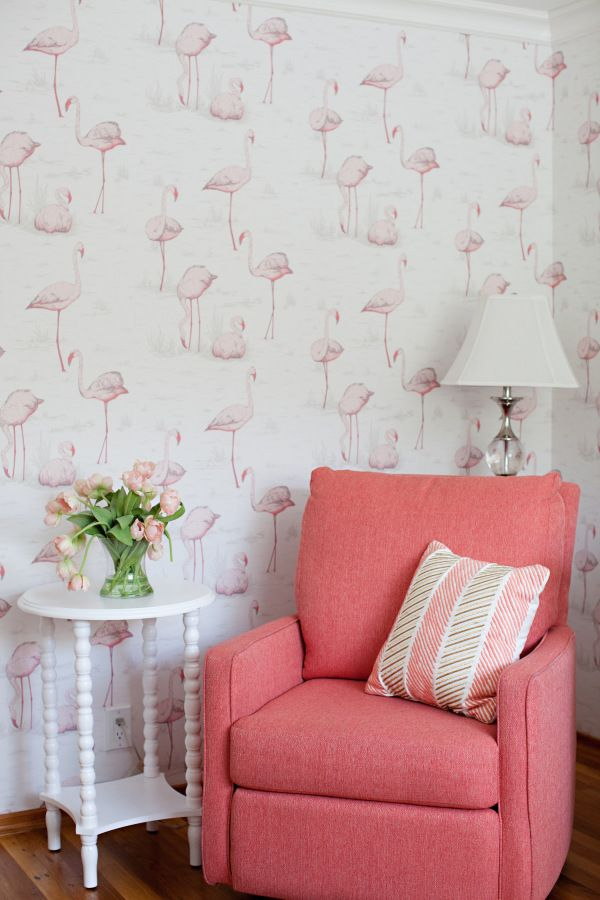 Pink flamingo baby nursery: http://www.stylemepretty.com/living/2016/12/16/the-most-magical-nurseries-of-2016/ Photography: What Shani Saw - http://whatshannisaw.com/index2.php