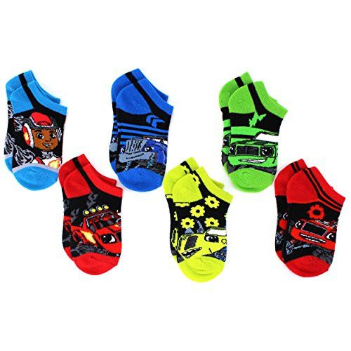 Blaze and the Monster Machines Boys 6pk Ankle Socks (4-6 Toddler (Shoe Size: 7-10))