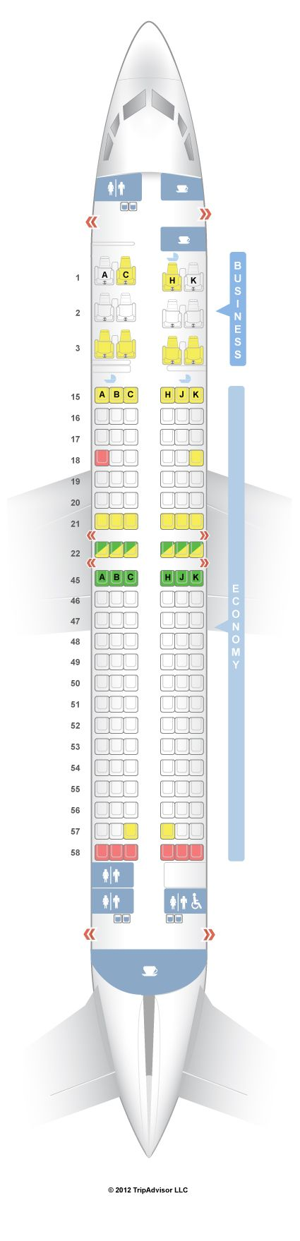 SeatGuru Seat Map Japan Airlines Boeing 737-800 (738) Intl