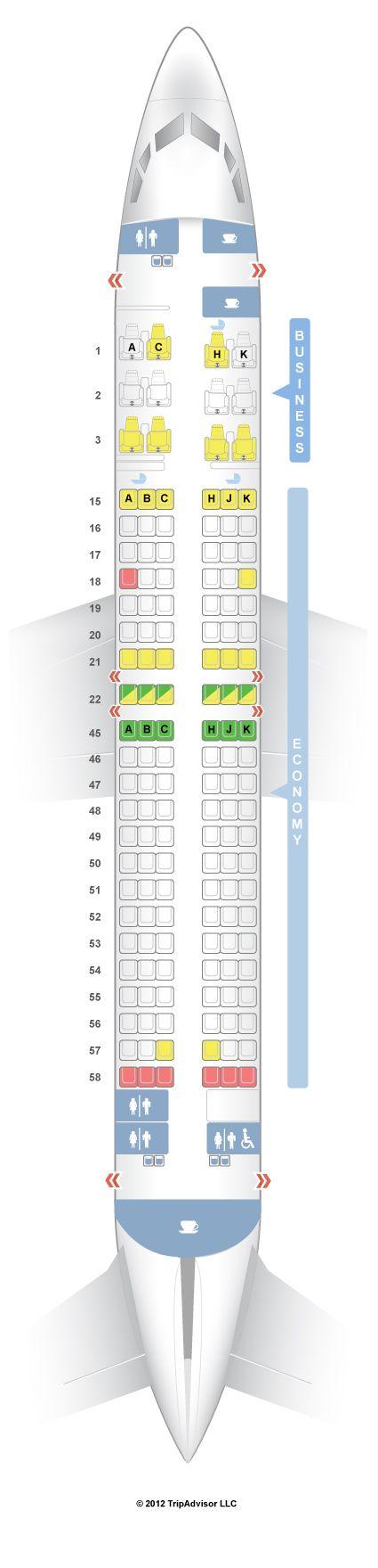 SeatGuru Seat Map Japan Airlines Boeing 737-800 (738) Intl