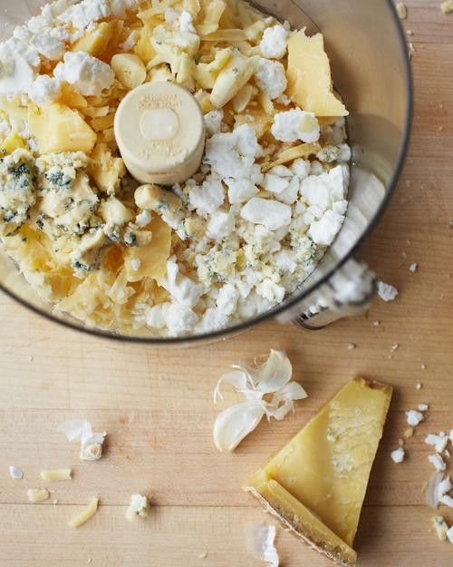 "The French cheese spread called fromage fort (""strong cheese"") is a smooth,  pungent amalgam of garlic, white wine, and any leftovercheeses   you have in the refrigerator."