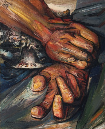 My favorite Mexican artist! Hands by David Alfaro Siqueiros. 1949.