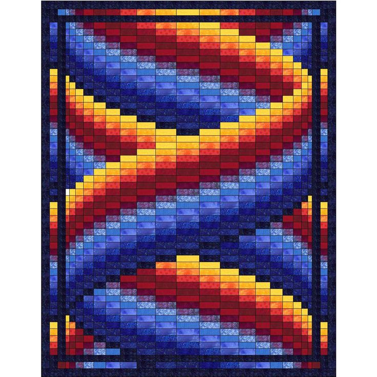 Curlz Bargello Quilt Pattern by QuiltingJays on Etsy https://www.etsy.com/listing/229023001/curlz-bargello-quilt-pattern
