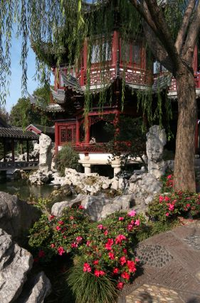 Traditional Chinese architecture reigns supreme in the Yuyuan Garden in Shanghai. Note all of the textures and how they work with and against each other.