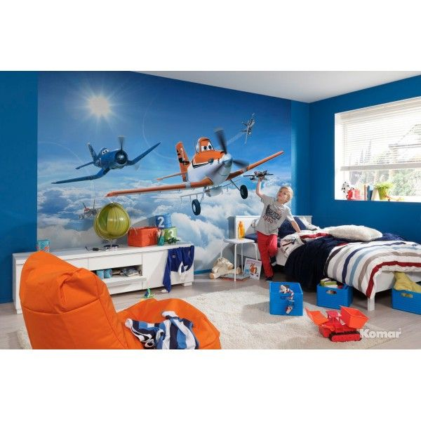 fresque murale en papier peint de dusty et ses amis de planes disney de 368 cm x 254 cm. Black Bedroom Furniture Sets. Home Design Ideas