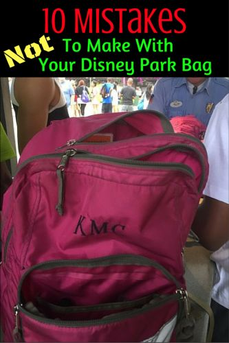 Tips for making sure your park bag is prepared for Walt Disney World
