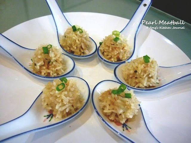 Pearl Meatball (珍珠丸子)glutinous rice