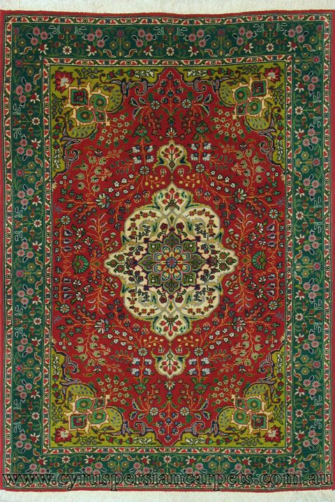 Tabriz Medallion Hand Knotted Wool Rug