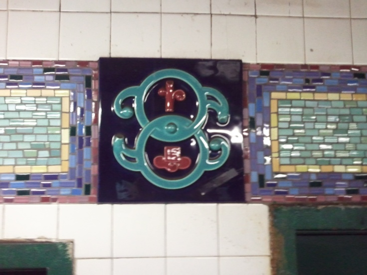 Tile at Canal Street Station on the N line
