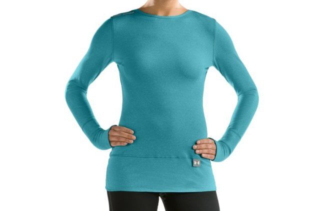 What Women Should Wear When Running in Cold Weather: Under Armour Women's Under Armour ColdGear Fitted Crew