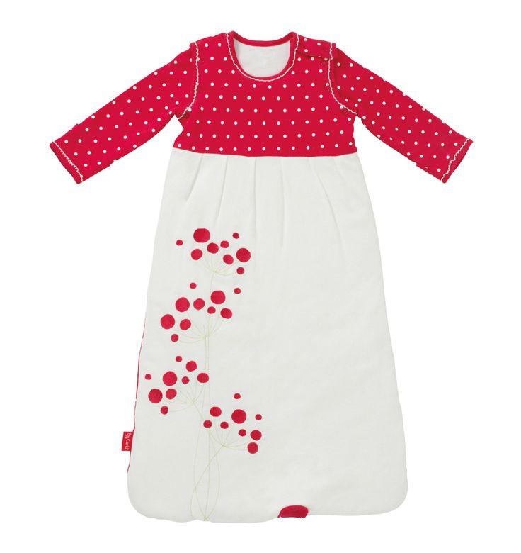 By Carla Long Sleeve Sleeping Bag - Raspberry Bloom