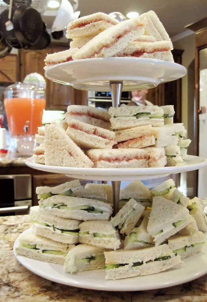 Seriously Daisies: Pink U0026 Gray Baby Shower {Food U0026 Drinks Bar} Sandwiches.