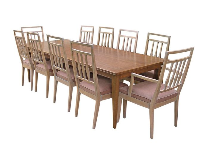 Retro Vintage DARIO ZOUREFF SET 8 DINING CHAIRS OAK Mid Century
