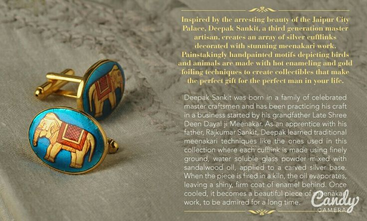 our cufflinks are available online @ Jaypore.com