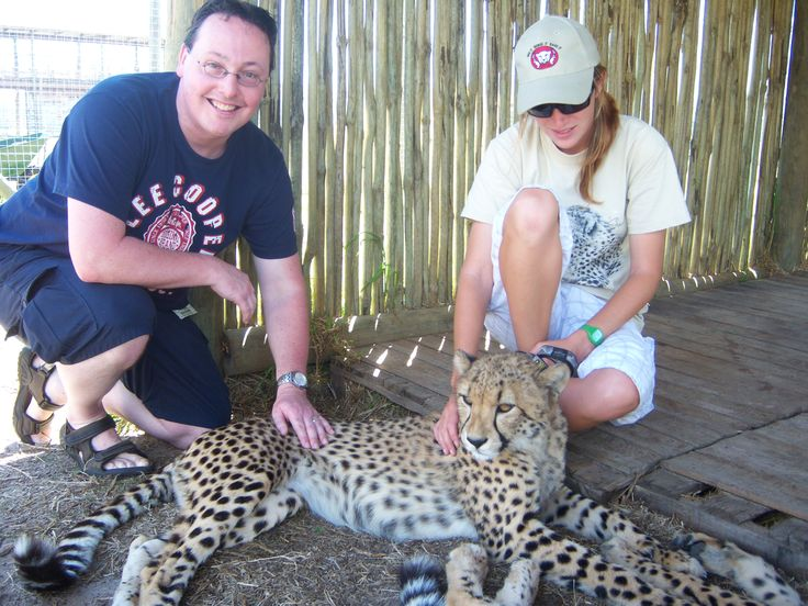 Me at Cheetah Outreach at Somerset West just outside Cape Town