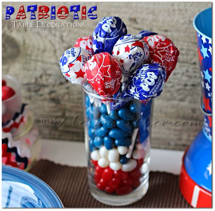 25+ Best Ideas About Patriotic Table Decorations On