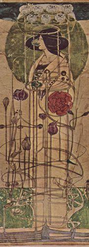 Чарльз Ренни Макинтош, эскиз настенной декорации