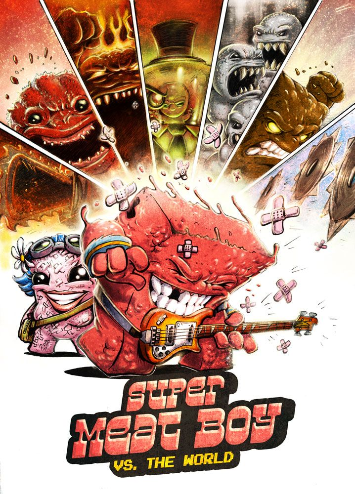 SUPER MEAT BOY: Against the World in this Scott Pilgrim Homage Art - News - GeekTyrant