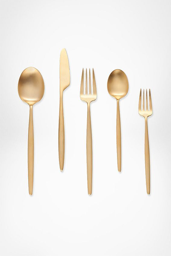 12 Choices for Modern Gold Flatware