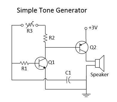 Simple Tone Generator Circuit Diagram   Electronics Projects/Info ...