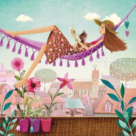 Square card by Mila Marquis par MarquisWonderland sur Etsy
