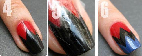 Disenos de unas con cinta adhesiva