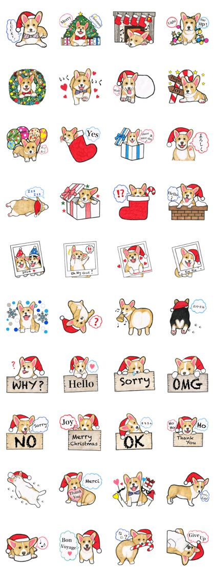 Merry Christmas Corgi sticker - LINE Creators' Stickers
