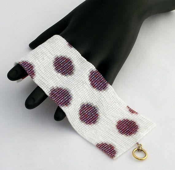 ON SALE 25% korting op vierkante Stitch kralen armband Spots