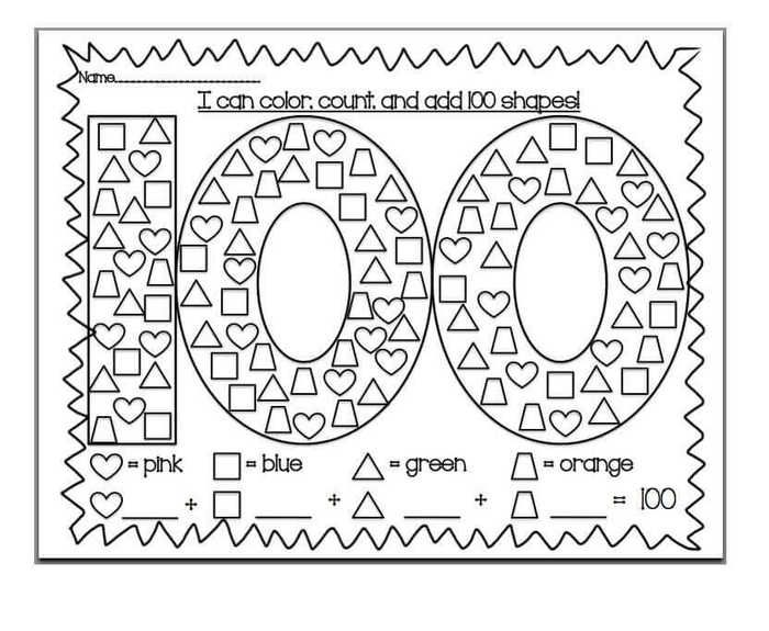 Printable 100 Days Of School Coloring Pages Free Coloring Sheets 100th Day Of School Crafts 100 Day Of School Project School Coloring Pages