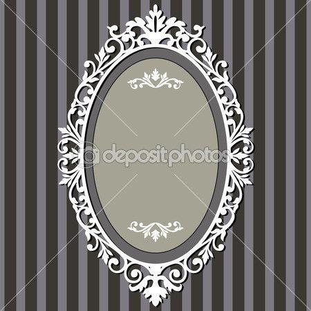 marco oval vintage — Ilustración de stock #5345590