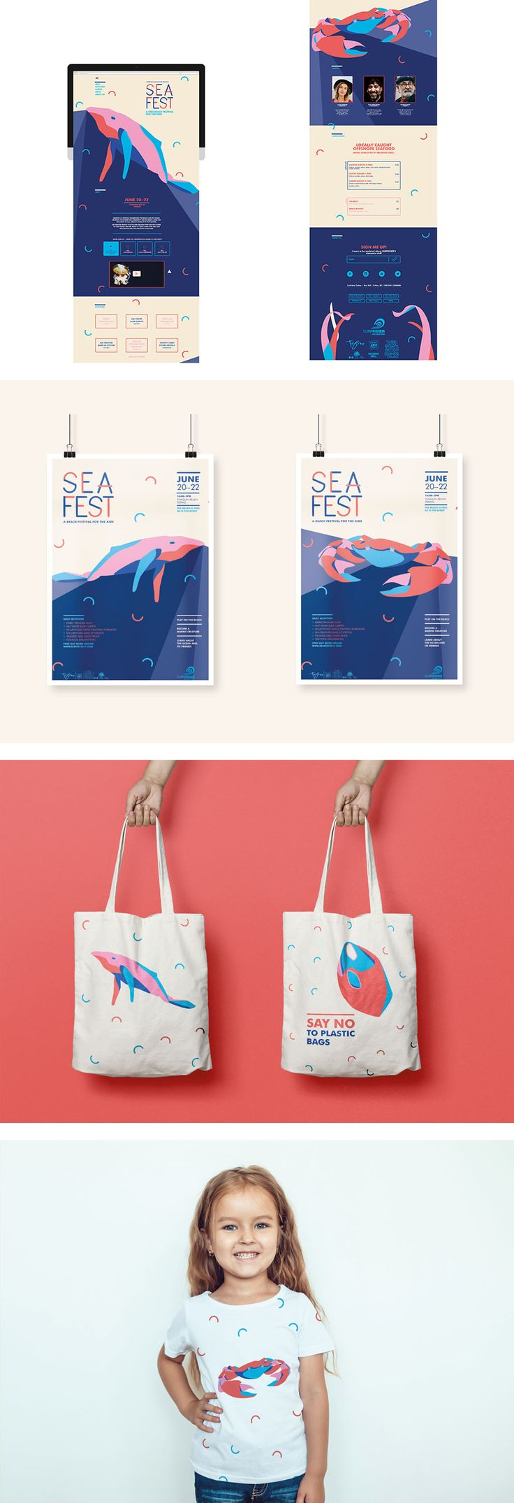 Festival Event, Branding, Digital, Tote Bag by Laurie Boudreault, Shillington Graduate. View more student work --> https://www.shillingtoneducation.com #MadeAtShillington