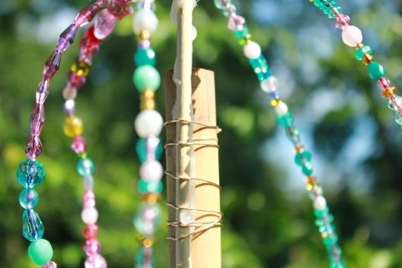 Beaded Garden Ornaments: Diy Gardens, Crazy Kids, Gorgeous Gardens, Garden Decorations, Kids Crafts Food Fun, Garden Crafts, Garden Flowers Backyards, Beaded Garden Ornaments, Garden Spaces