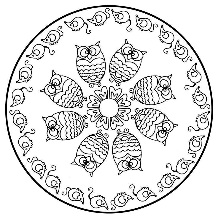 Free Mandalas Page 171 Mandala To Color Animals Free Owls