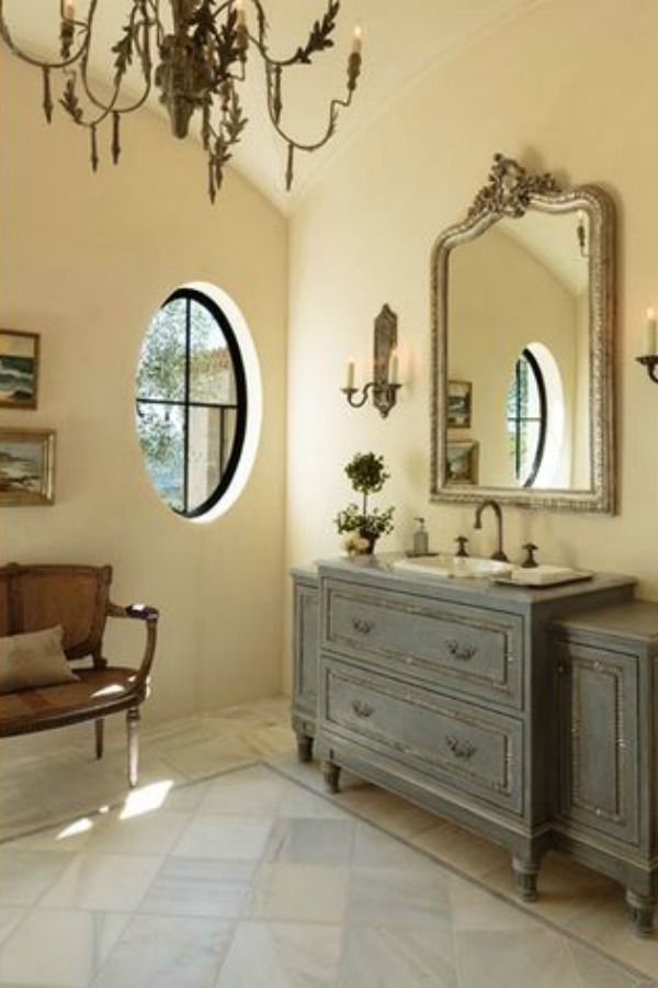 Antique Vintage Style Bathroom Vanity Inspiration Hello Lovely French Country Bathroom Bathroom Design Decor French Country Decorating