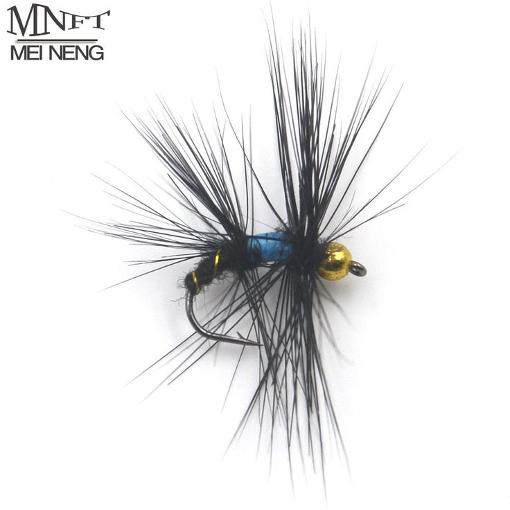 10# Black Hackle Golden Beard Head Nymph Flies Trout Fishing Flies