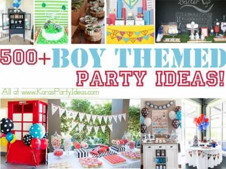 500 Creative Ideas for Boy Themed Parties