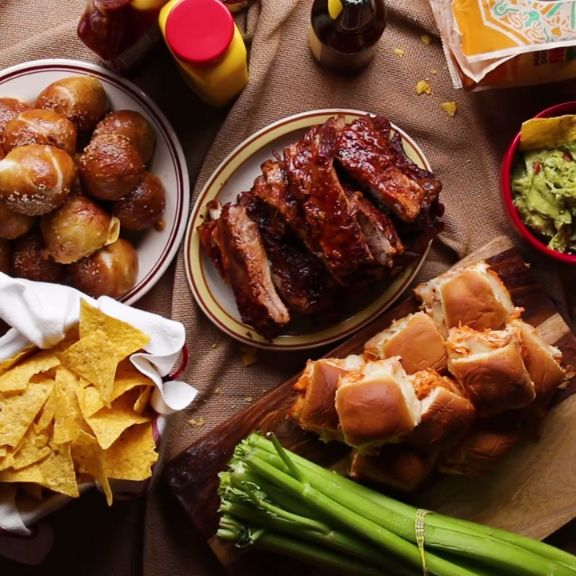 Game Day Spread: Ribs, Sliders, Pretzel Bombs
