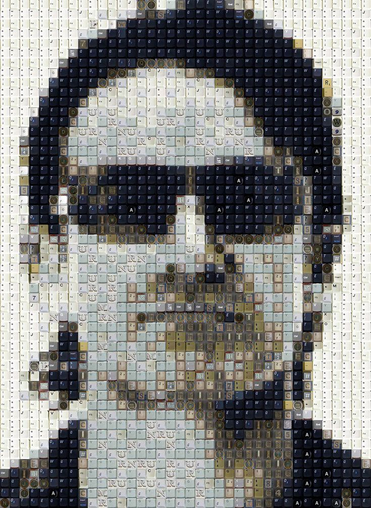 Bono - celebrity keyboard portraits by WBK